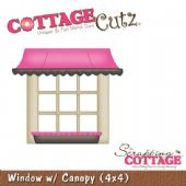 CottageCutz Dies - Window with Canopy (4x4) - CC4x4-031